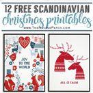 Free Scandinavian Christmas Printables