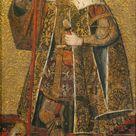 Master of the Visitation, 1500 - Warrior Saint - fine art print - Canvas print / 90x180cm - 35x71