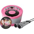 Groove Portable Karaoke Boombox with CD Player with Bluetooth Playback - Pink