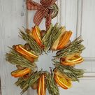 Holiday Decorations from The Kitchen: Dried Orange Slices