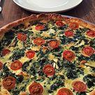 Quiche mit Spinat, Feta, Tomaten und Pinienkernen von shelly_we | Chefkoch
