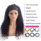 Beaufox Water Wave Headband Wig Human Hair Wigs For Black Women Brazilian Scarf Wig No Gel Glueless Remy Curly Human Hair Wigs   20inches / 150