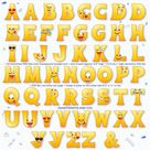 Emoji alphabet clipart font smiling face letters for party   Etsy