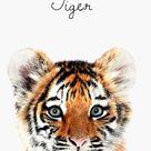 Baby Tiger Print, Kids Room Tiger Art, Nursery Tiger, Jungle Animal, Nursery Art Print, Tiger Baby Animal, Nursery Print, Tiger Art, #504