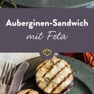 Auberginen-Sandwich mit Oliven-Feta-Creme: mediterraner Snack