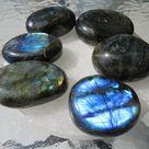 Labradorite Gemstone Palm, Crystal, Healing, Flash, Calming, Transformation, Good Luck, Power, Stren