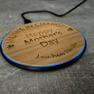 Personalised Round Wireless Fast Charger