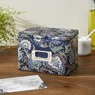 Vera Bradley Recipe Tin Box Women in Java Navy Camo Blue