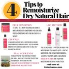 4 Easy Tips To ReMoisturize Dry Natural Hair   Millennial in Debt