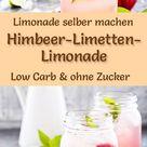 Himbeer-Limetten-Limonade selber machen - Rezept ohne Zucker & Low Carb