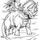 Triceratops und palmen zum ausmalen zum ausmalen - de.hellokids.com
