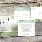 Wedding Save The Date Invite With Rsvp Postcard Made By Layers Of Silk