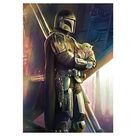 The Mandalorian: Holding The Child Mural - Officially Licensed Star Wars Removable Wall Adhesive Decal Giant (36
