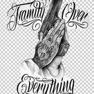 Tattoo Machine Praying Hands Flash Drawing PNG - Free Download