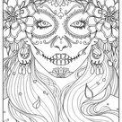 Day of the dead   El Dia de los Muertos Coloring Pages for Adults   Just Color