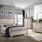 Patterson Driftwood Gray Panel Bedroom Set - 4-Piece Queen (QB-D-M-N)