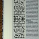 CHRONICLES - 4 Bible journaling printable templates, illustrated christian faith bookmarks, black and white bible verse prayer journal