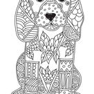 Dog adult antistress or children coloring page vector image on VectorStock