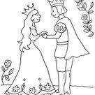Kostenlose Malvorlage Prinzessin: Prinz und Prinzessin zum Ausmalen