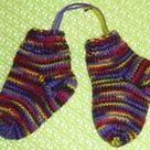 Sockenstrick-Lehrgang für 4-fädiges Garn - alle Größen für Baby-Kinder-Damen-Herrensocken