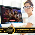 NIGHT CLUB WEBSITE Design, Custom Website Designer. I Will Do Custom Website Design for Night Clubs.