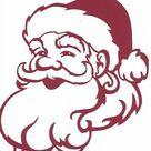 Santa face silhouette