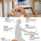 Ergonomic Kneeling Desk Stool