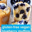 Vegan Blueberry Muffins (Gluten-Free)
