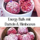 Energy Balls mit Datteln und Himbeeren