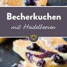 Heidelbeer-Becherkuchen vom Blech