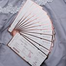 Airline Ticket Style Boarding Pass Invitations | Ticket Style Invitations | Destination Invites | Full Foil Destination Wedding Invitations