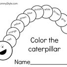 Very Hungry Caterpillar writing pages   My Mommy Style
