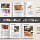 Editable Recipe Book/ Cookbook Template Word