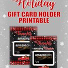 Free Printable Holiday Gift Card Holder for Amazon