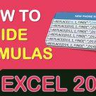 How to Show & Hide Formulas in Excel   MyExcelOnline