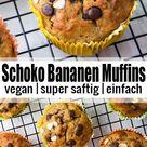 Schoko Bananen Muffins   Vegan Heaven