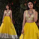 Yellow Lehenga Choli for Women Ready To Wear Custom Size,  Foil Work, Bollywood Partywear, Bridesmaid Bridal Wedding Outfit USA UK Canada