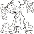 Dopey dwarf coloring page | Free Printable Coloring Pages