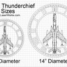 F 105 Thunderchief Wooden Wall Clock, United States Air Force Aircraft Gift, Airplane, Wood Clock, Aviation Gift, Military Gift Pilot Gift
