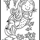 Cute Jellyfish and Mermaid Coloring Page: Free Download!