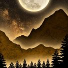 Super Moon Night - IPhone Wallpapers