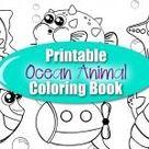 Printable 20+ Page Ocean Animal Coloring Book