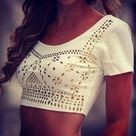 White Crop Tops