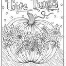 5 Pages Fabulous Fall Digital Downloads to Color Punpkins   Etsy