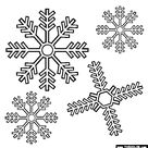 Snowflakes Coloring Page   Free Snowflakes Online Coloring