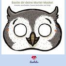 Tiermaske basteln: Muriel, die Eule