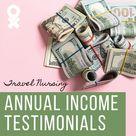 Travel Nurse $$$ Testimonials: Real-Life Annual Income - Next Move Inc.
