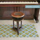 Retro linoleum rug printed to order. multiple sizes. Linoleum   Etsy
