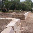 B Grade Premium Sandstone Retaining Wall Brisbane area - Cornerstone Boulder Walls