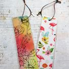 Handmade flamingo bookmarks, book lover gifts, gifts for friends, book accessories, flamingo themed gifts, co-worker gift, paper and books